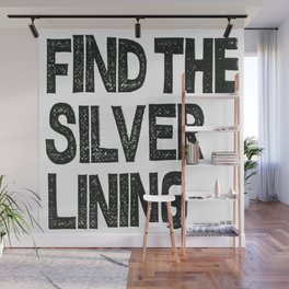 silver lining Wall Murals | Society6