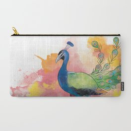 indian peafowl Carry-All Pouch