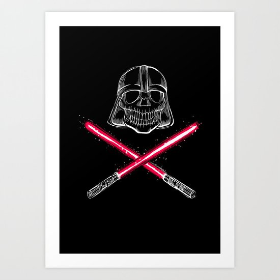 The Deadly Vader Art Print