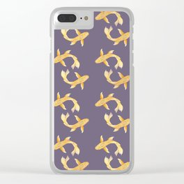 Golden Koi Pattern Clear iPhone Case
