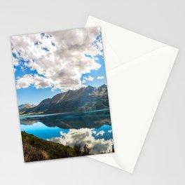 Lake Wakatipu Panorama at Golden Hour Stationery Cards