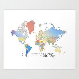 World Map [Bucket List] Art Print