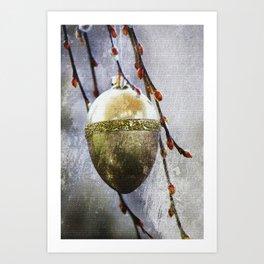Golden easter egg Art Print
