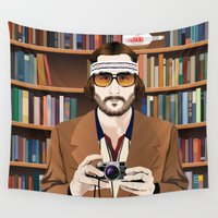 infamous Wall Tapestries featuring Richie Tenenbaum by The Art Warriors