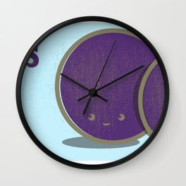Plums Wall Clock