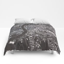 Budapest - city map Comforters