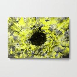 Grunge Paint Splatter Flower Metal Print