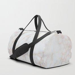 White Marble 004 Duffle Bag