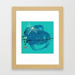Turquoise Dragonfly Framed Art Print