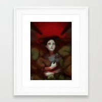 dragon age Framed Art Prints featuring Dragon Age: Blood Lotus by mureh