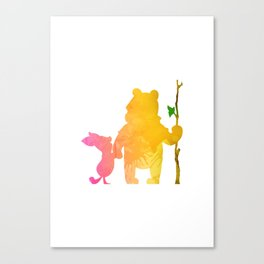 Friends Inspired Silhouette Canvas Print