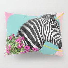 zebra and petunias Pillow Sham