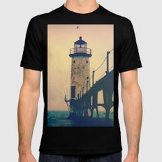 Beacon Black Mens Fitted Tee SMALL