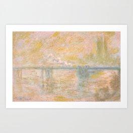 1902-Claude Monet-Charing-Cross Bridge in London-65 x 100 Art Print