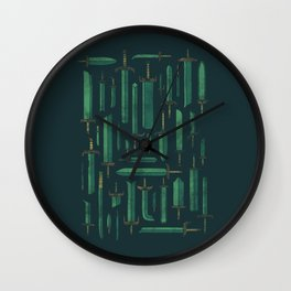Bunch of Blades Wall Clock
