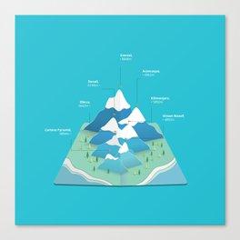 Seven Summits Canvas Print