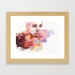 don't worry about it, you're a flower Framed Art Print