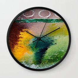 FALL ABSTRACT Wall Clock