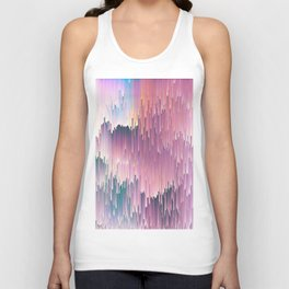 Rainbow Glitches Unisex Tank Top