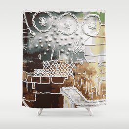 Embroidered Landscape Shower Curtain