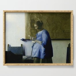 Vermeer, woman reading a letter,Mujer leyendo una carta,Brieflezende vrouw, Serving Tray