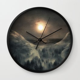 Hope in the moon Wall Clock