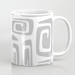 Mid Century Modern Cosmic Abstract 613 Gray Coffee Mug