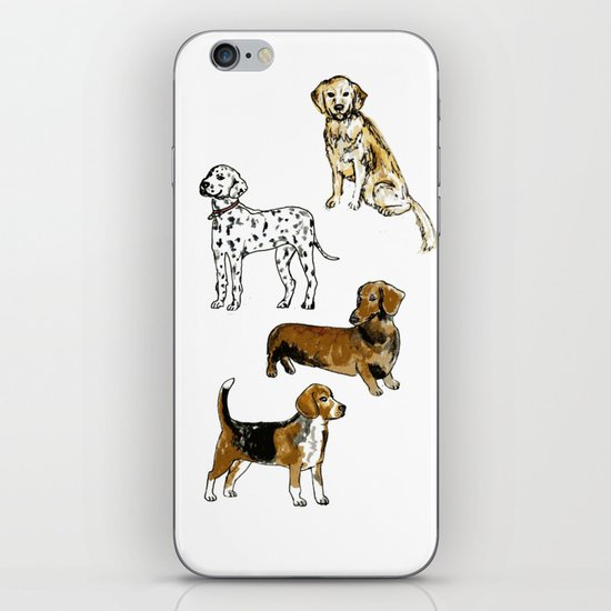 DogDogDogDog iPhone Skin