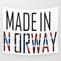 norway Wall Tapestries featuring Made In Norway by VirgoSpice
