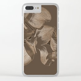 Dogwood Tree Flowers (sepia) Clear iPhone Case