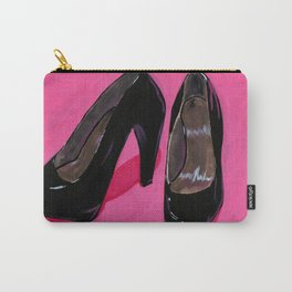 Black Shoes Carry-All Pouch
