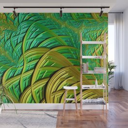 patterns green yellow string Wall Mural