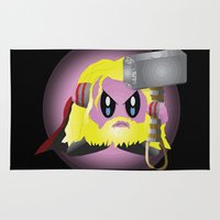 kirby Area & Throw Rugs featuring Kirby Odinson by sarahbevan11