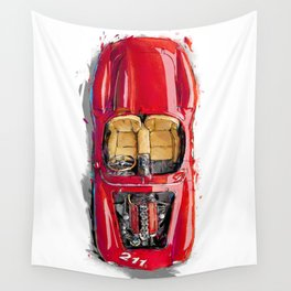 Rosso Corsa Wall Tapestry
