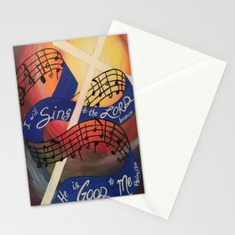 Sing Music Cross Stationery Cards