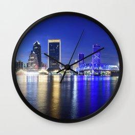 Jacksonville Skyline Panorama Wall Clock
