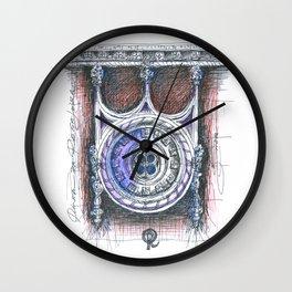 quinta da regaleira window Wall Clock