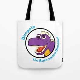 Derpple the Dinosaur Tote Bag