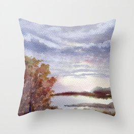 Autumn Light Throw Pillow
