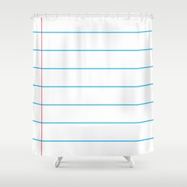 The Writer Shower Curtain