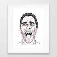american psycho Framed Art Prints featuring American Psycho. by Saul Art
