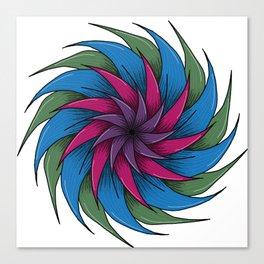 Spiral Flower. Canvas Print