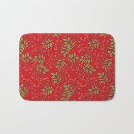 Red rowan pattern. Bath Mat