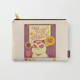 Stay Positive Cat Carry-All Pouch