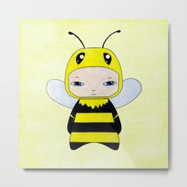 A Boy - Bee Metal Print