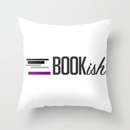Asexual, Bookish, and Proud Throw Pillow