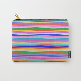 Colorful wavy stripes Carry-All Pouch