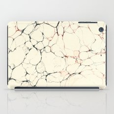 Marble Cream Blue / Orange Square # 2 iPad Case