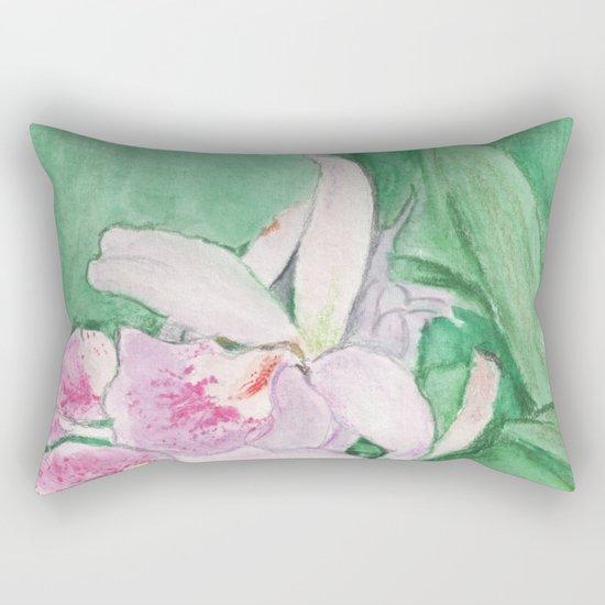 Orchid Cascade Rectangular Pillow