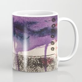 Purple Rain, original artwork by Stacey Brown Coffee Mug